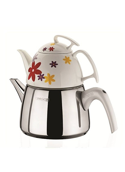 Emsan Seylan Çaydanlık Seti Kırçiçeği Renksiz